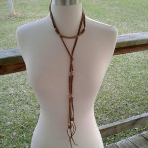 Women's Faux Leather & Crystal Necklace